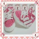 NEW Tennis Adidas Baby Sneakers shoes slippers PINK crochet