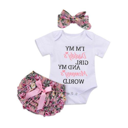 Newborn Tops Jumpsuit Tutu Pants Headband