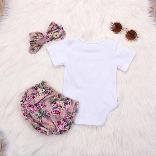 Newborn Romper Tops Headband Outfits