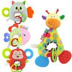 Newborn Baby Infant Animal Soft Rattles Teether Hanging Bell