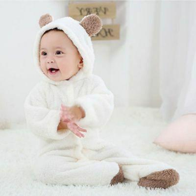 Newborn Infant Boy Romper Hooded Bodysuit Outfits Clothes