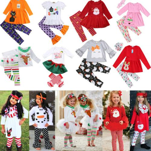 newborn kid baby girls christmas halloween tops