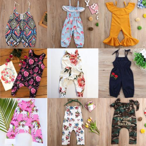 US Newborn Kids Girls Floral Romper