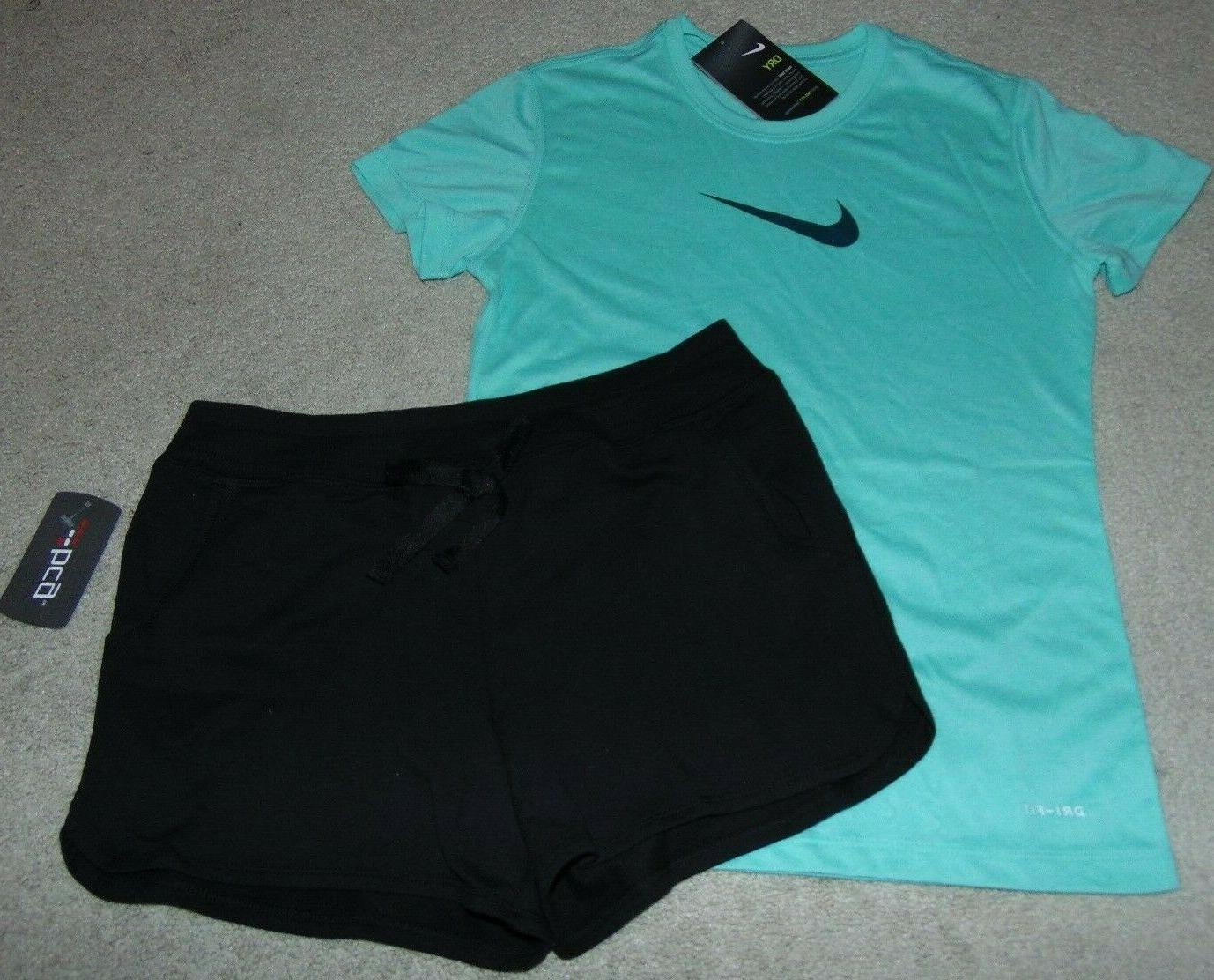 nwt girls nike and bcg outfit size