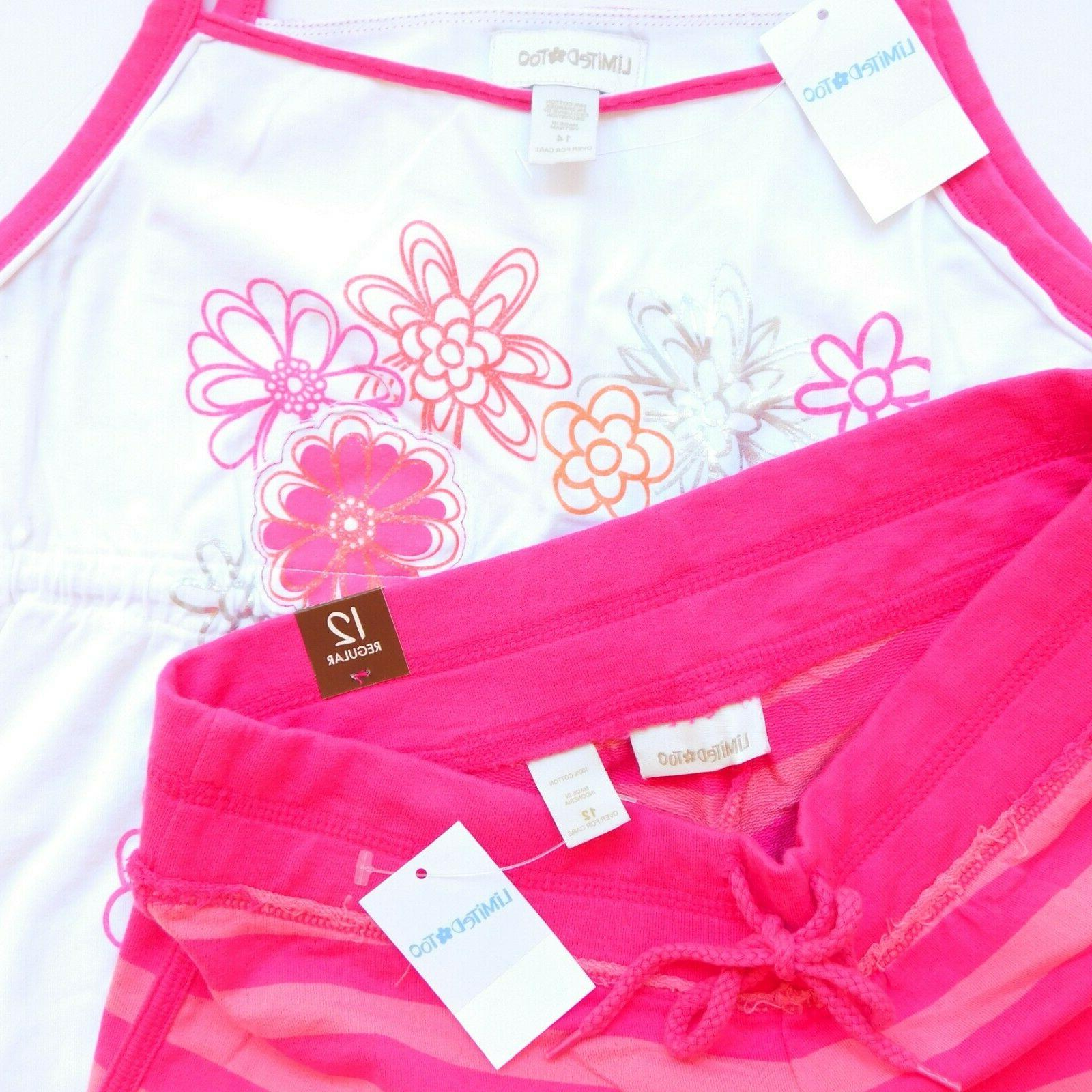 NWT Girls Justice Limited Too Summer Tops Shorts Lot New