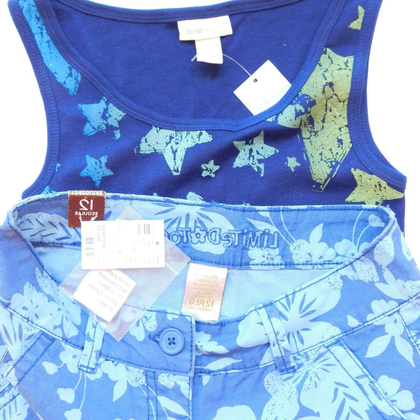 NWT Size Justice Tops Shorts Lot