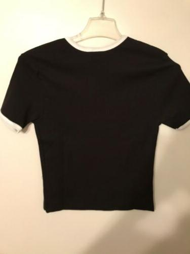 NWT 1995 Friends Shirt Top Sz XL Black