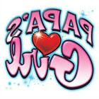 PAPA'S GIRL Cute! Youth Kids T-Shirt Jerzees 6 Months To 18-