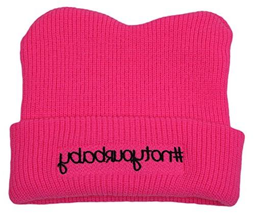 pink knit embroidered pussyhat pussy