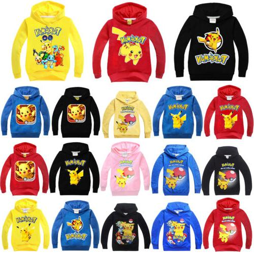 Pokemon Go Kids Girls Boys Sweatshirt Hoodies Jacket Coat Ou