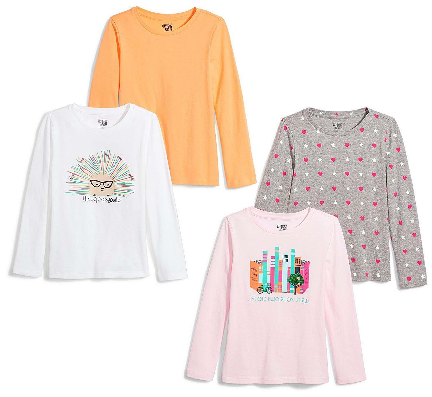 Spotted Zebra Girls' Long-Sleeve T-Shirts