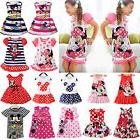 Summer Girl Kid Baby Princess Dress Mickey Minnie Mouse Cart