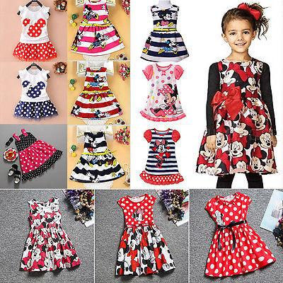 Toddler Kids Baby Girls Summer Mini Dresses Cartoon Skirt Pa