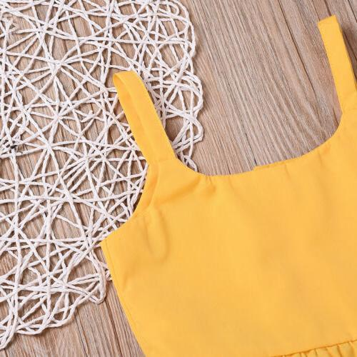 Toddler Baby Summer Clothes Tops+Sunflower Shorts