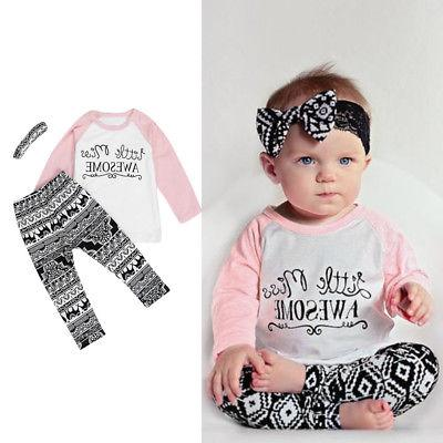 Toddler Baby Clothes Pants Headband 3PCS Set