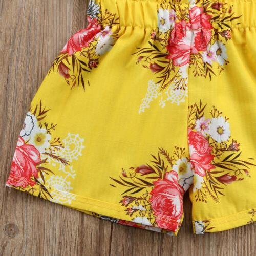Toddler Floral Outfits Tops+Pants/Shorts