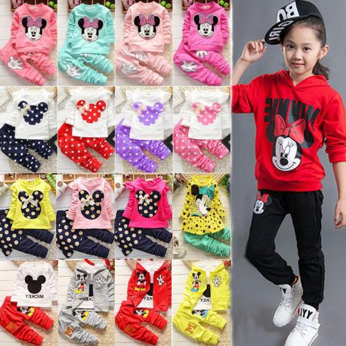 toddler kids baby girl minnie mouse outfit