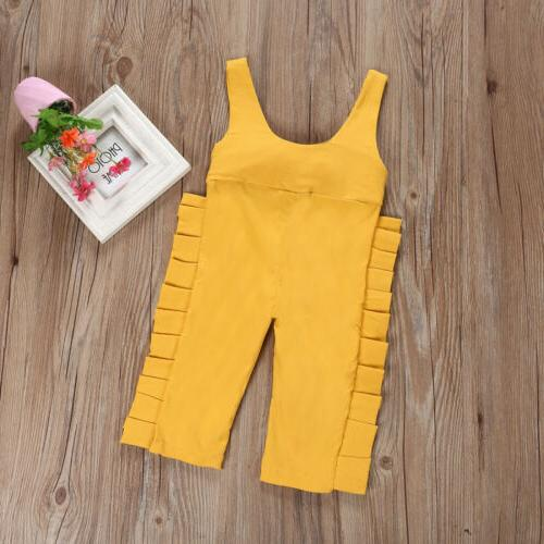 Ruffle Overalls Strap Jumpsuit Pants Clothes