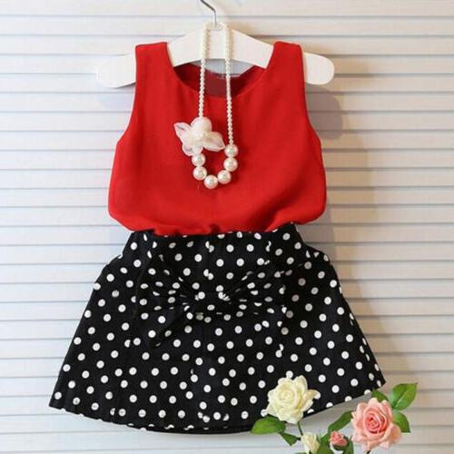 Toddler Kids Outfits Tops Polka