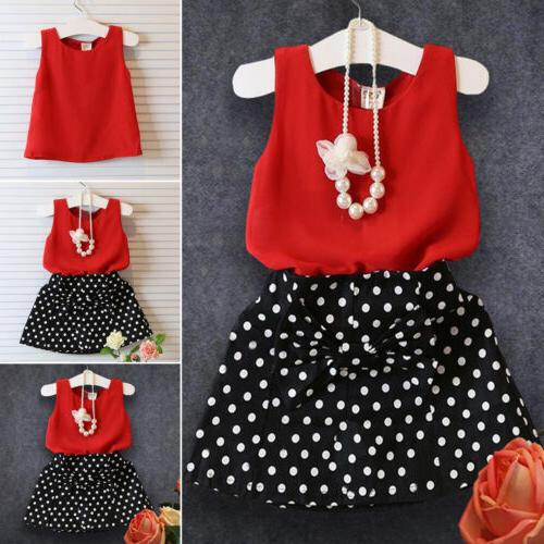 toddler kids baby girls outfits vest tank