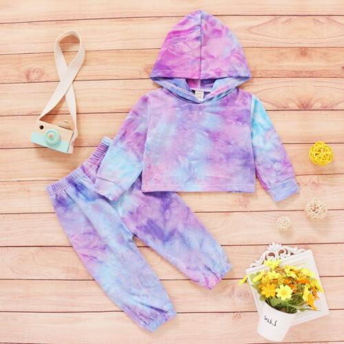 Toddler Kids Tie Clothes Tracksuit