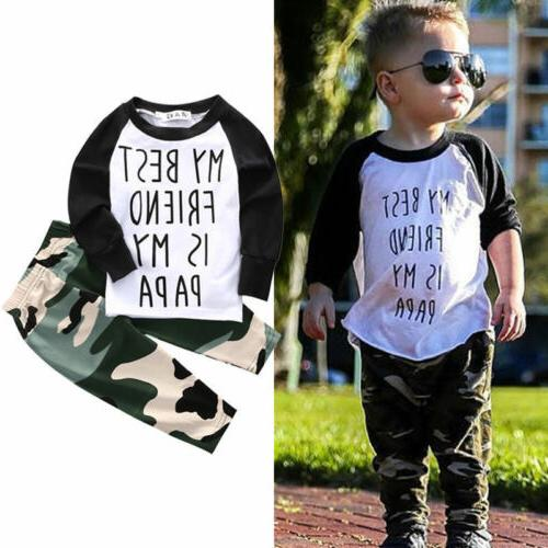 Toddler Kids T-shirt Pants Outfits Clothes
