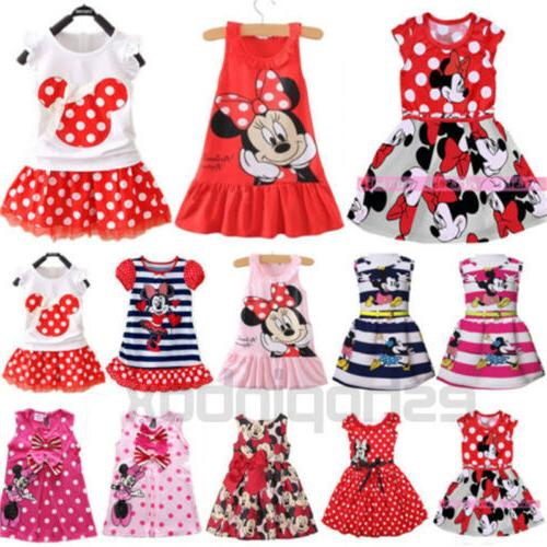 toddler kids girls cartoon minnie mouse party