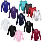Toddler Kids Girls Long Sleeve Ballet Dance Clothes Leotard