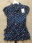 U.S. POLO ASSN. jean Ruffled dark wash blue dress Girls whit