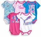 PUMA  Childrens Apparel 11176170 Baby Girls 5 Pack Ss Bodysu