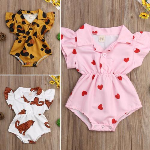 US Baby Girl Flower Romper Bodysuit Jumpsuit Summer