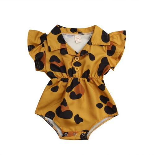US Baby Infant Flower Jumpsuit