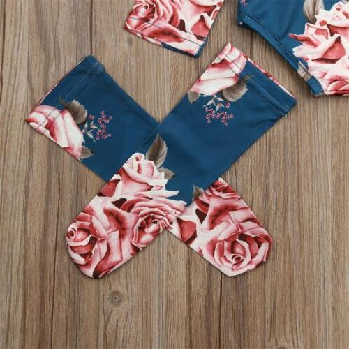US Baby Flower Romper Leg Warmer