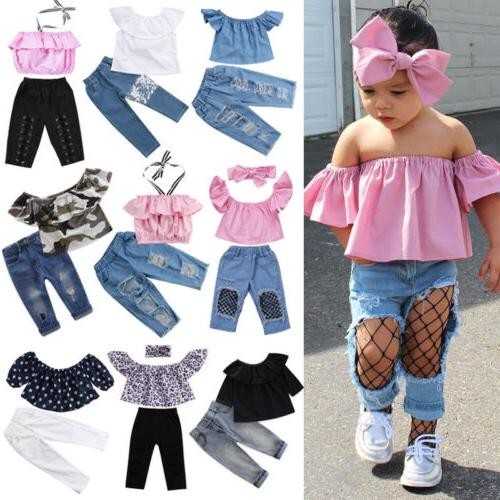 US Denim Toddler Girl Outfits Clothes
