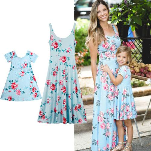 US and Baby Girl Floral Sundress