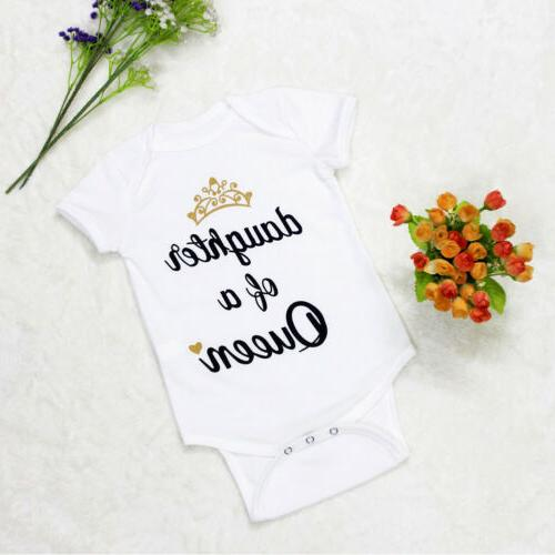 US Girls Matching Outfits Queen Tops Princess Romper