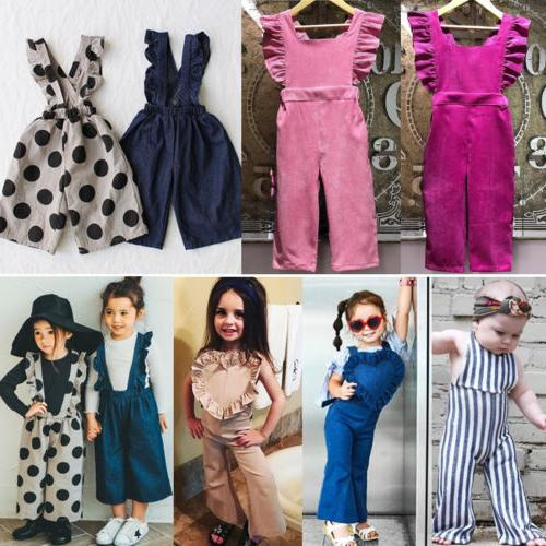 US Girls Stripes Pants Outfits Clothes