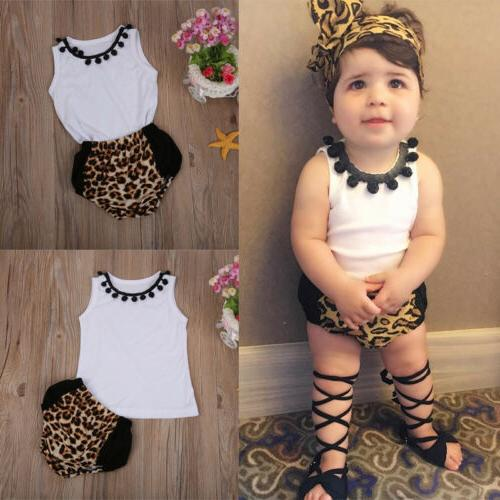 US Infant Toddler Baby Girl Clothes Romper Sunsuit