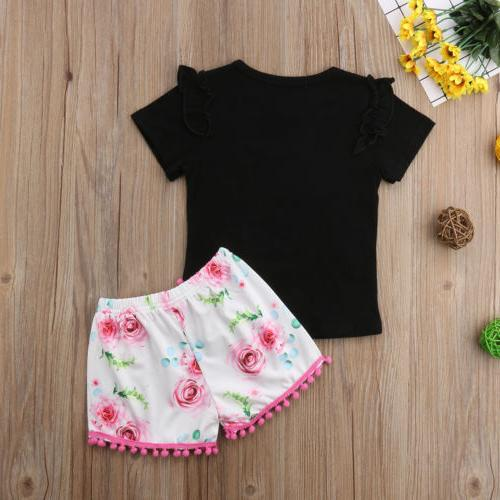 US Kid Minnie Tops+ Floral Shorts Outfits