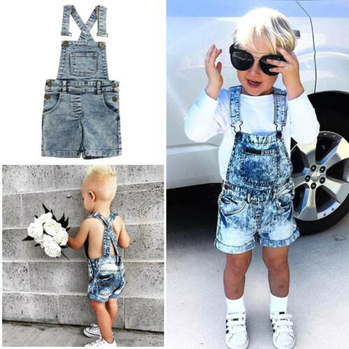US Girls Romper Jumper Bib Overalls Clothes