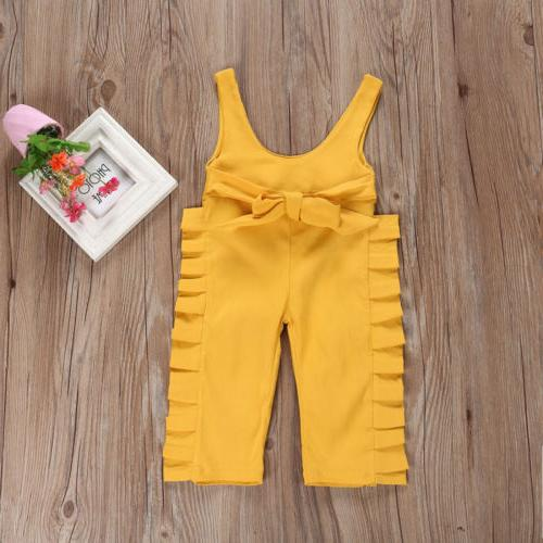 US Kids Baby Ruffle Jumpsuit Clothes