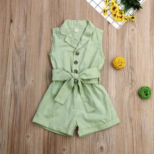 Girl Clothes Jumpsuit Overalls Set