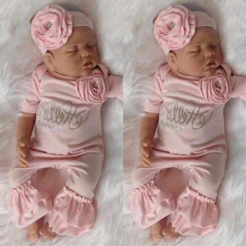 us newborn baby girl 3d flowers romper