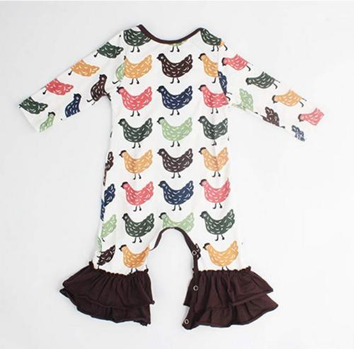 US Baby Long Sleeve Flower Romper Outfits