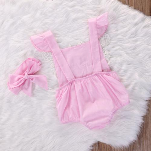 US Baby Romper Lace Headband