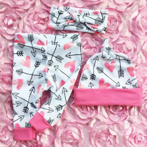 US Newborn Girls Clothes Romper Jumpsuit Floral Outfit Set