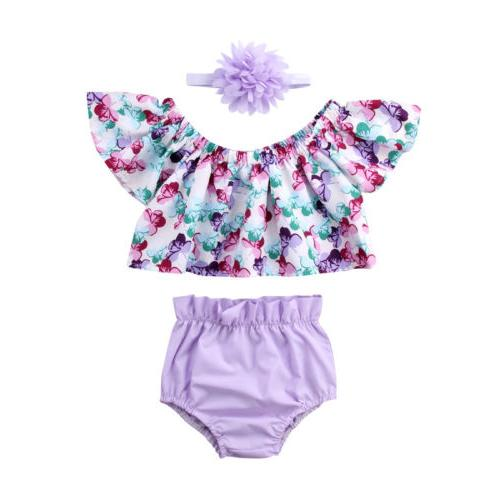 US Newborn Baby Girls Off Shorts Briefs Clothes