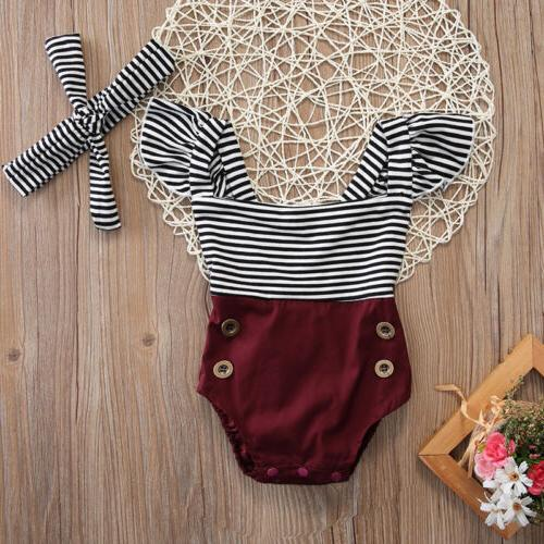 us newborn toddler baby girl clothes romper