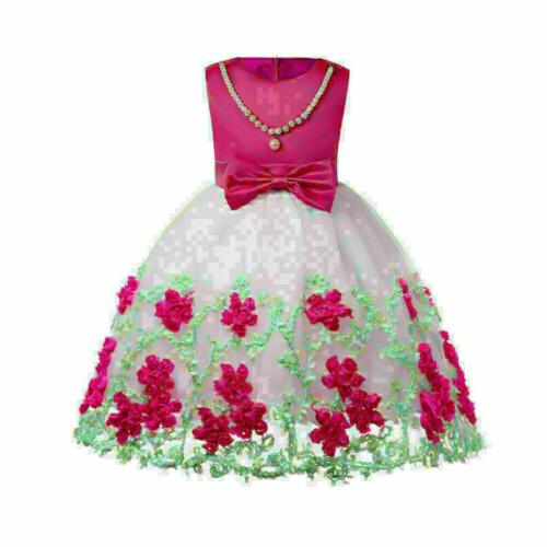 US Princess Tulle Dress Baby Lace Party Clothes