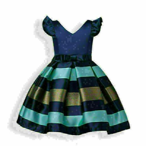 US Princess Baby Girls Party Outfits Clothes